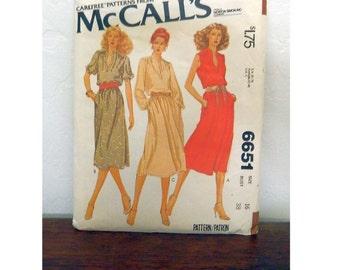 McCall's Pattern 6651 - Vintage Dress Pattern - Uncut - Size 16