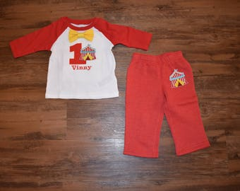 Circus Birthday Outfit with Pants