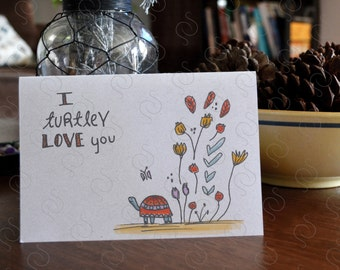 I Turtley Love You Card ∙ Valentine Card ∙ Cute Anniversary Card  ∙ I Love You Card ∙ Just Because ∙ Card for him ∙ Card for Her ∙ Turtle