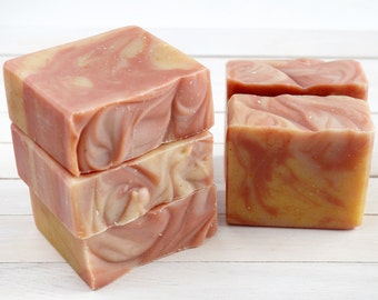 Citrus and Cedarwood Soap - Handmade All Natural Cold Process Soap with Mango Seed Butter