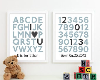 Baby Boy Gifts for Boy Baby Gift for Baby Shower Gift, Personalized Baby Birth Print, Baby Name Art Birth Announcement Baby Stats 8x10