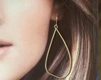 Handmade  Petal Hoop Earrings