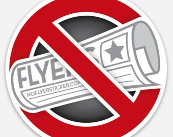 "No Flyers Sticker - 3"" dia."