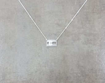 Colorado State Flag Silver Plated Necklace in Gift Box United States Stripes CO Skies Earth Civil Flag