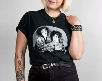 Siouxsie Sioux & Robert Smith Hand Screen-Printed T-Shirt