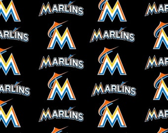 MLB Miami Marlins Cotton Fabric by the yard