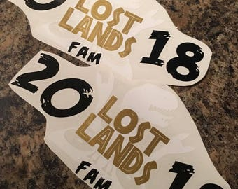 Ready to ship as shown Lost Lands 2018 Excision Dubstep Festival Decal