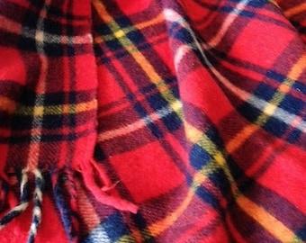 Warm Wool Tartan Throw
