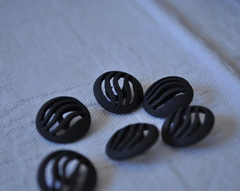 6 buttons ' 80 Anthracite Grey