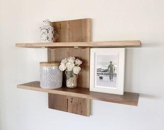 Australian Upcycle Handmade Rustic Floating Wooden Floating Shelving Decor Wall Art Kitchen Shelf Shelves Shelve Reclaimed Wood Book Home