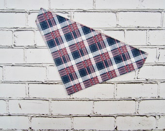 Pretty in Plaid  Slip-On Bandana for Dogs
