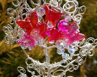 Butterfly Tree of Life Pendant, Ornament or Suncatcher
