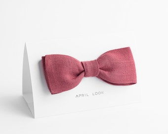 Rose bow tie - MADE TO ORDER
