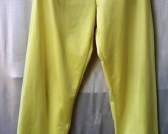 Vintage 80s AdidasTrack Pants trefoil  TRACKPANTS  light yellow pastel S-M vintage adidas フランス製