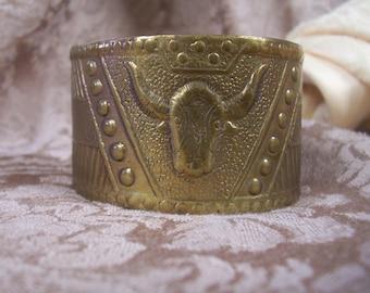 Vintage  Repousse Metal Bracelet
