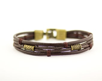 Brown Rope Bracelet, Mens Rope Bracelet, Mens Brown Bracelet, Rope Charm Bracelet, Men Rope Bracelet, Brown Mens Bracelet, Brown Bracelet