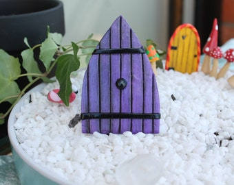Basic Large Fairy Door - Custom Fairy Door - Fairy Garden Accessories - Druidrie Grove - Polymer Clay Fairy Door - Terrarium Accessory