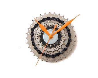 Bike Wall Clock - Industrial Clock - Modern Wall Clock - Unique Wall Clock  Husband Gift - Boyfriend Gift - Housewarming Gift - Cyclist Gift