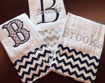 Baby Burp Cloths, Burp Cloths, Girl burp cloths, Boy Burp Cloths, Embroidered Burp Cloths, Personalized burp clothes