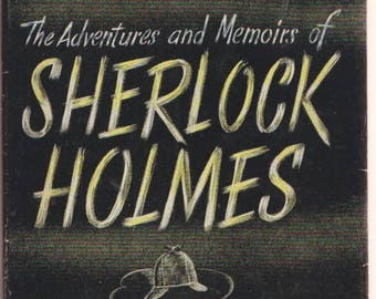 Adventures & Memoirs of SHERLOCK HOLMES Sir Arthur Conan Doyle / Modern Library #206 / hardcover/ vintage