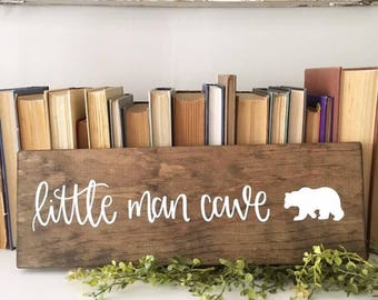 Little Man Cave - Wood Sign