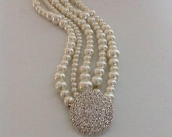 Pearl Christmas Gift, Wedding Bracelet , Bridesmaids Gifts,Pearl Wedding Bracelet,Pearl Bracelet,Ivory Pearls,