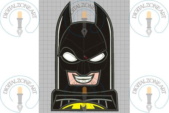Batman Head Lego Applique-Batman Head Lego Portrait-Lego