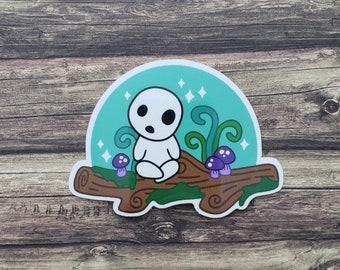 Forest Spirit Sticker // Ghibli // Fanart