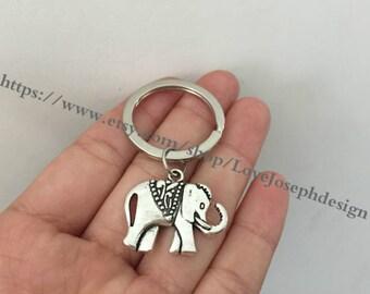 elephant keychain, elephant gifts key ring