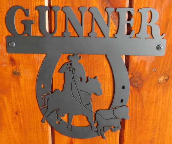 Horse Stall Nameplate,Calf Roper Nameplate,Metal Sign,Metal Cut Sign,Horse Lover,Barn Sign,Metal Art,Plasma Cut Sign,Farm Sign