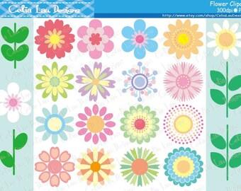 Flower Clipart , Mod Flower Clip Art (CG167)