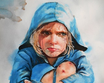 Custom Watercolor Portrait  Commissioned From Your Photo