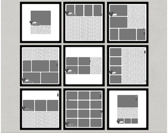 Easy Album - 12x12 Digital Scrapbooking Templates