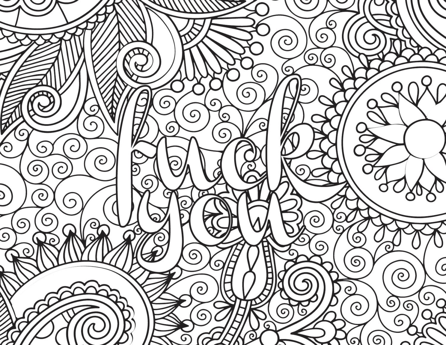Printable Swear Coloring Pages