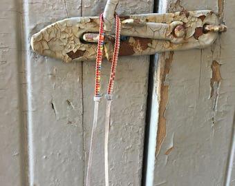 Handwoven beaded bracelet