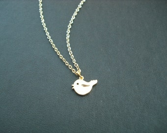14K Gold Filled chain - tiny love bird necklace