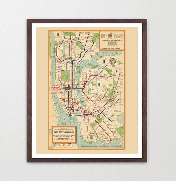 new york city subway map subway map art map decor new