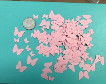 Light Pink Butterfly Confetti, Decoration, Cutout, Die Cuts