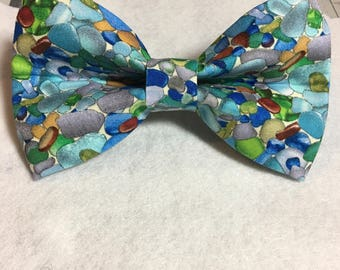 Sea Glass Dog Bow Tie or Flower