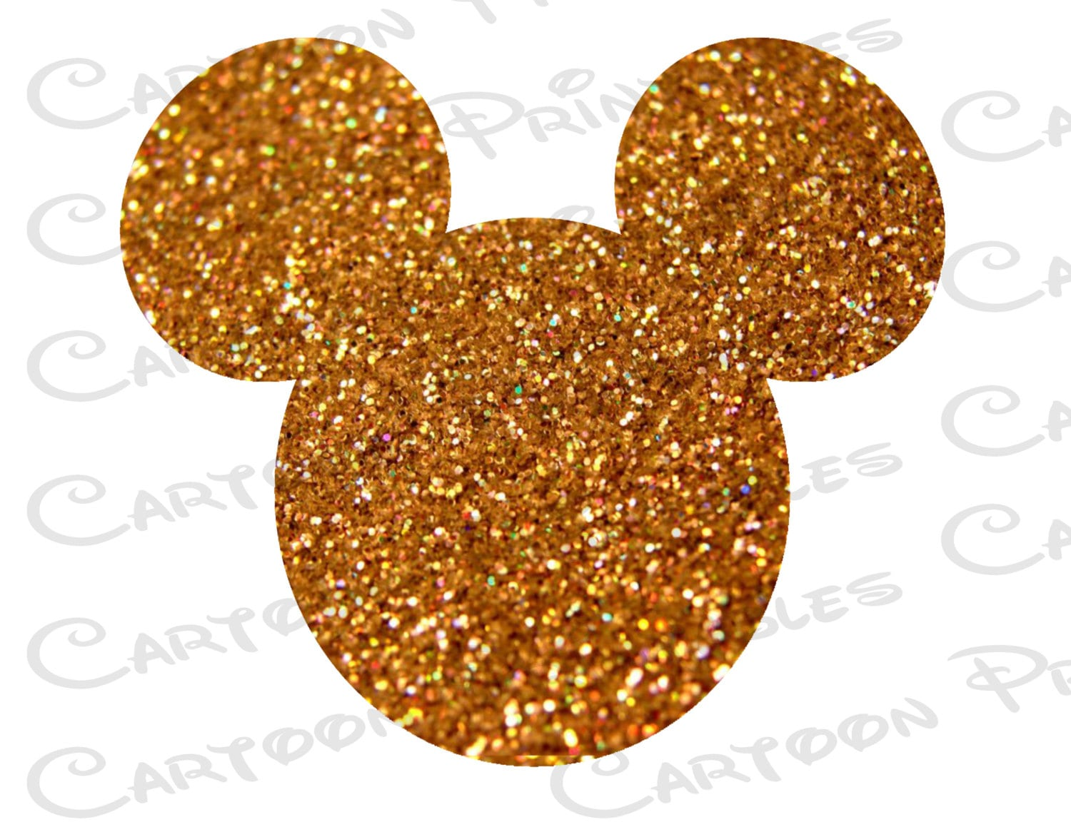 Mickey mouse head gold glitter bling image mouse ears zoom biocorpaavc