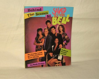 vintage 1992 behind the scenes at saved by the bell book