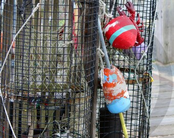 Lobster Trap & Buoys Provincetown Cape Cod