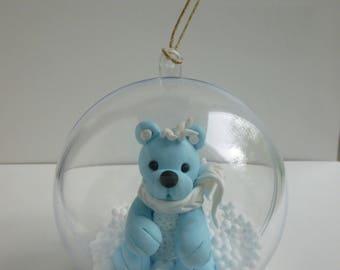 Little bear Christmas ornament