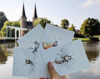 Essential Life Insects Postcards (4)