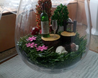 Wine glass garden