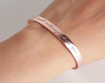 Custom Coordinates Bracelet Gift, Personalized Simple Cuff Bracelet with Latitude and Longitude Custom Engraved Gift for Her