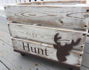 Deer/Woodland Toy Crate/Toy Box