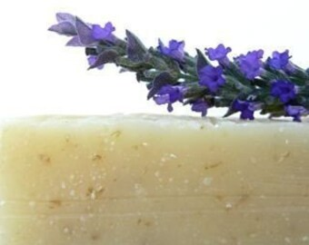 Lavender Oatmeal Soap - Vegan Cold processed 4 oz bar