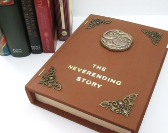 Neverending Story inspired book box w/molded Auryn emblem (Made to Order)