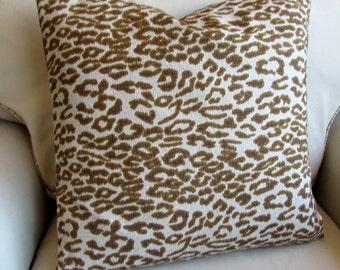 Cheetah pillow cover 18x18 20x20 22x22 24x24 26x26